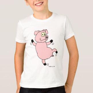 Cerdo del baile de la camiseta