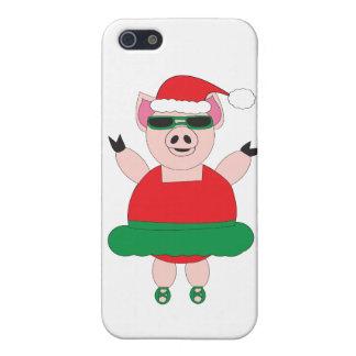 Cerdo del ballet del navidad iPhone 5 carcasas