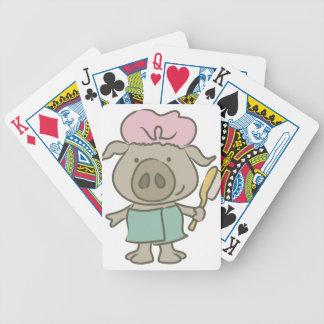 cerdo del balneario barajas de cartas