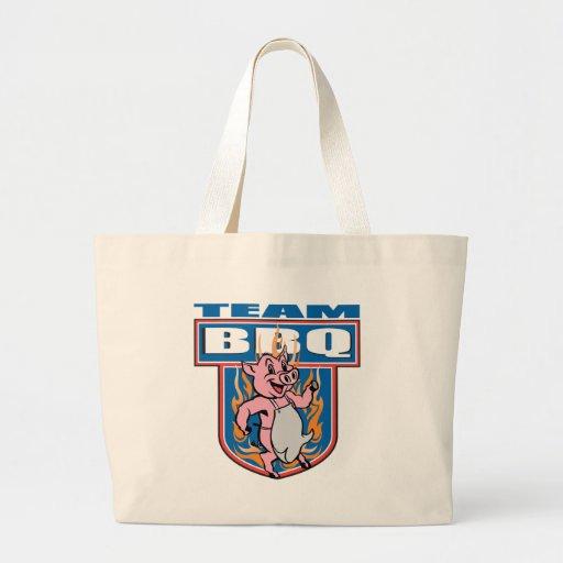 Cerdo del Bbq del equipo Bolsa Tela Grande