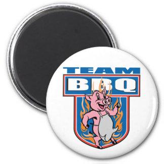 Cerdo del Bbq del equipo Imán Para Frigorifico