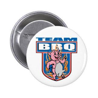 Cerdo del Bbq del equipo Pin Redondo 5 Cm