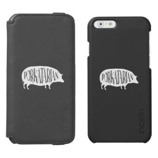 Cerdo del Bbq del vintage de Porkatarian Funda Billetera Para iPhone 6 Watson