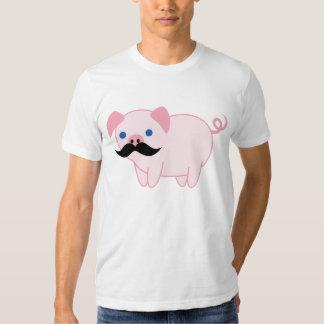 Cerdo del bigote remeras