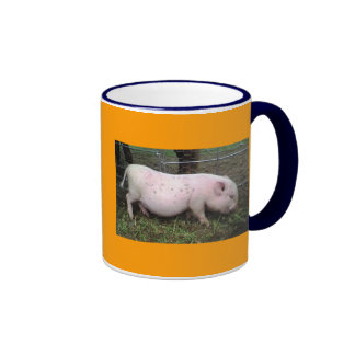 ¡Cerdo del café! Taza De Dos Colores