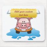 Cerdo del Carwash Tapetes De Ratón