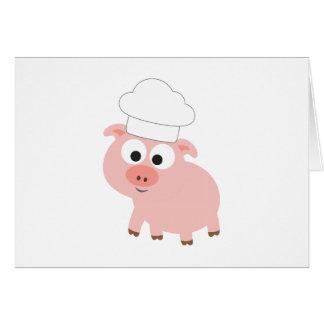 Cerdo del cocinero tarjeton
