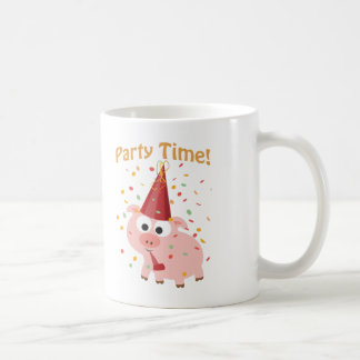 Cerdo del confeti del tiempo del fiesta tazas