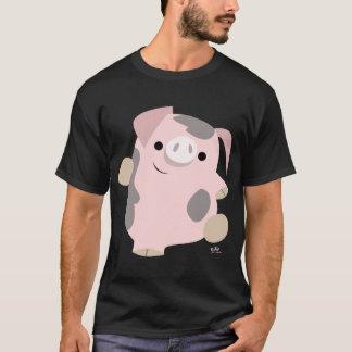 Cerdo del dibujo animado del baile playera