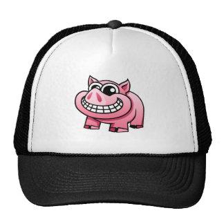 Cerdo del dibujo animado gorros