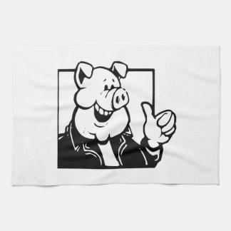 Cerdo del dibujo animado toallas de mano