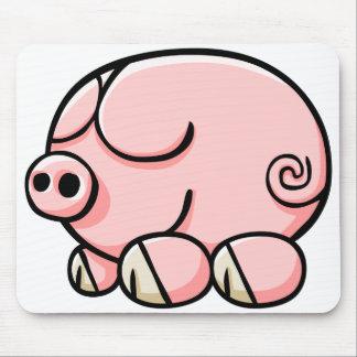 Cerdo del dibujo animado alfombrillas de ratones