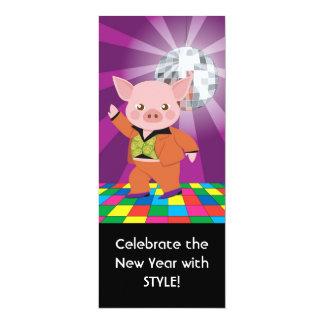 """cerdo del disco en la sala de baile invitación 4"""" x 9.25"""""""