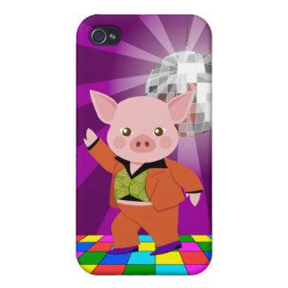 Cerdo del disco en sala de baile iPhone 4/4S carcasa