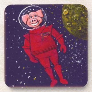 Cerdo del espacio posavasos