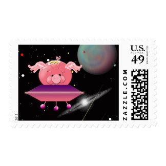 Cerdo del espacio sellos