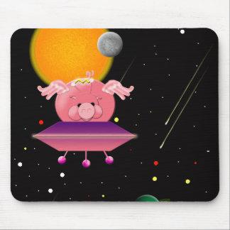 Cerdo del espacio alfombrillas de ratón