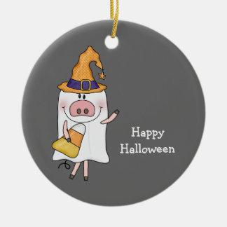 Cerdo del fantasma (personalizable) ornamentos de reyes magos
