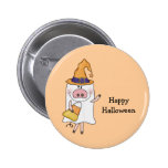 Cerdo del fantasma (personalizable) pin