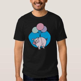 Cerdo del fiesta que vuela playera