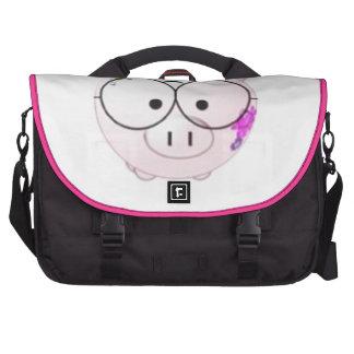Cerdo del friki bolsas de portatil