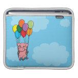 Cerdo del globo del vuelo fundas para iPads