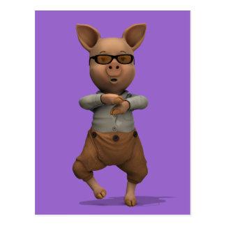 Cerdo del golpeador tarjeta postal