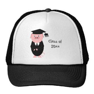 Cerdo del gorra de la graduación
