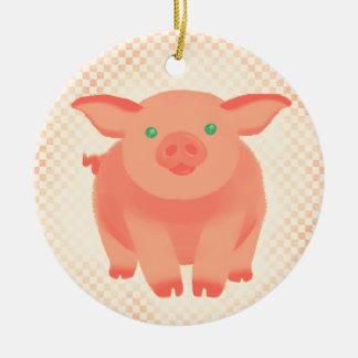 Cerdo del guión adorno de navidad