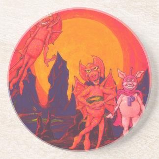 Cerdo del héroe en Mercury Posavasos Personalizados