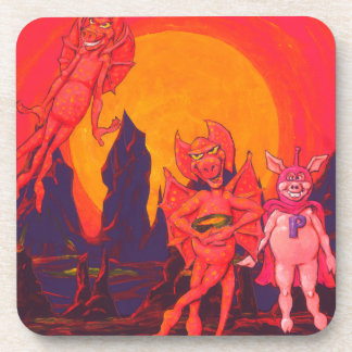 Cerdo del héroe en Mercury Posavasos De Bebidas