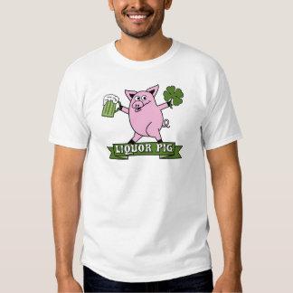 Cerdo del licor del día del St Patricks Remera