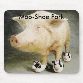 Cerdo del MOO-Zapato Tapete De Ratones