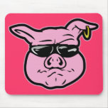 Cerdo del motorista alfombrilla de ratones