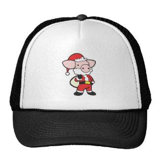 cerdo del navidad de Papá Noel Gorro