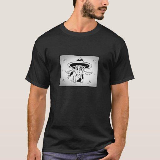 Cerdo del sombrero - oscuridad playera
