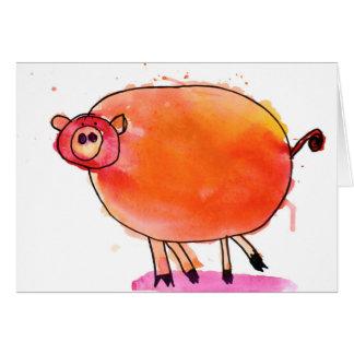Cerdo del tango • Nate Perdue, edad 6 Tarjeta Pequeña