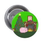 Cerdo del tiempo del navidad pin