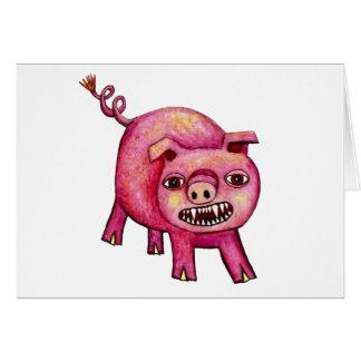 Cerdo del vampiro felicitación