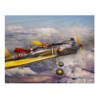 Cerdo del vuelo - avión - el paseo de la alegría postales