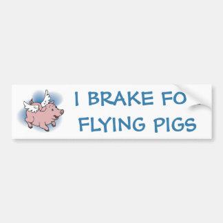 Cerdo del vuelo pegatina para auto