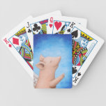 Cerdo del vuelo cuando el cerdo vuela el naipe baraja cartas de poker