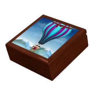 Cerdo del vuelo - globo - para arriba para arriba  cajas de recuerdo
