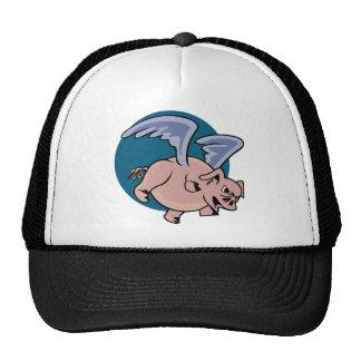 Cerdo del vuelo gorras