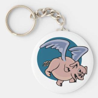 Cerdo del vuelo llavero