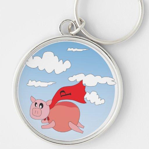 Cerdo del vuelo - llavero superior