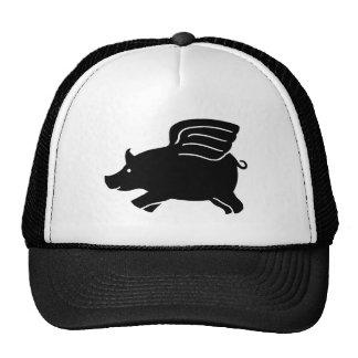 Cerdo del vuelo - negro gorro de camionero