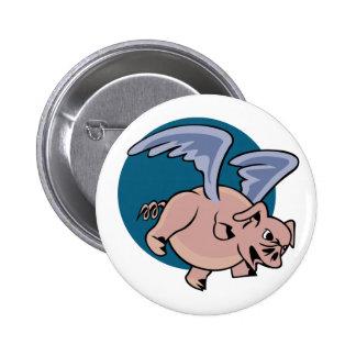 Cerdo del vuelo pins