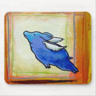 Cerdo del vuelo poca pintura guarra del arte del á tapete de ratones