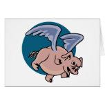 Cerdo del vuelo tarjeta